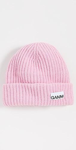 GANNI - Rib Knit Beanie