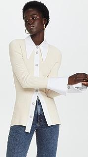 GANNI Melange Knit Shirt