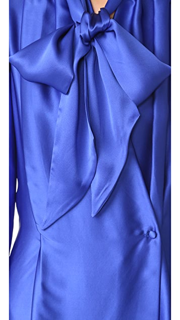 Gareth Pugh Satin Wrap Front Dress