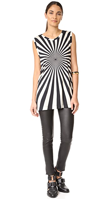 Gareth Pugh Sleeveless Printed Top