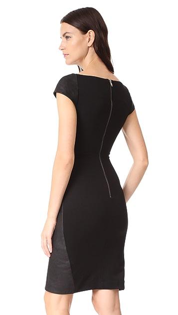 Gareth Pugh Leather Mini Dress with Stretch Back