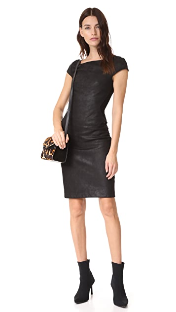 Gareth Pugh Leather Mini Dress with Stretch Back