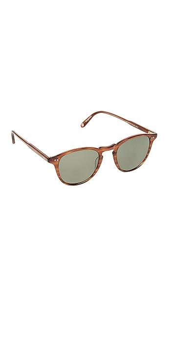 GARRETT LEIGHT Hampton Polar Sunglasses - Demi Blonde/G15 Polar