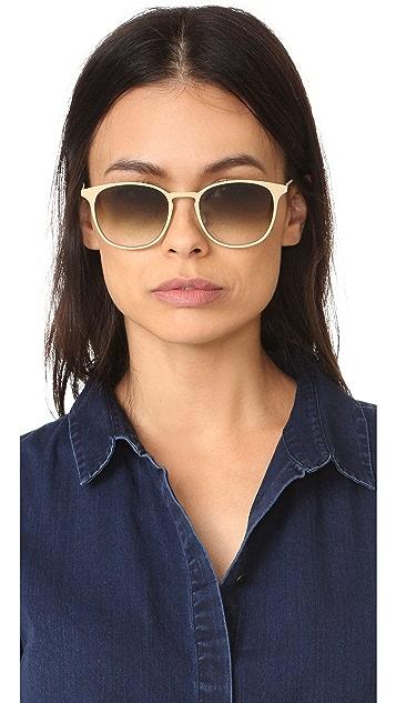GARRETT LEIGHT Kinney Metal Sunglasses
