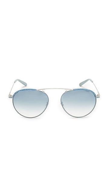 GARRETT LEIGHT Innes Denim Sunglasses