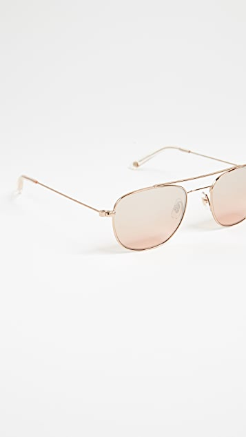 GARRETT LEIGHT Club House Aviator Sunglasses
