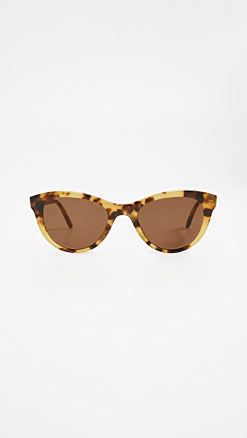 GARRETT LEIGHT x Clare V. 47 Cat Eye Sunglasses