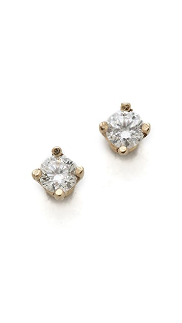 Gabriela Artigas 14k Gold White Diamond Stud Earrings