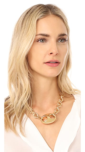 Gabriela Artigas Egg Link Chain Choker Necklace