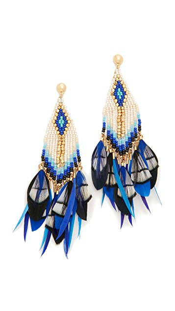 GAS Bijoux Huichol Plume Earrings