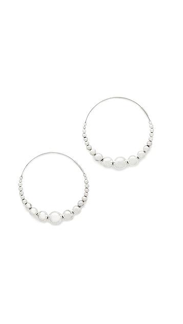 GAS Bijoux Multiperla Hoop Earrings