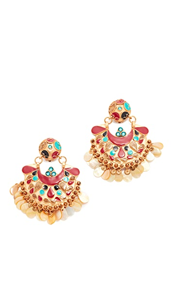 GAS Bijoux Eventail Clip On Earrings