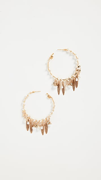 GAS Bijoux Bo Creole Pondichery Pompon Earrings