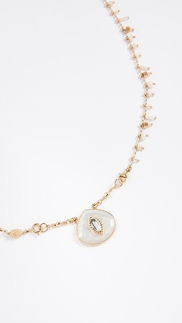 GAS Bijoux Collier Scapulaire Serti Necklace