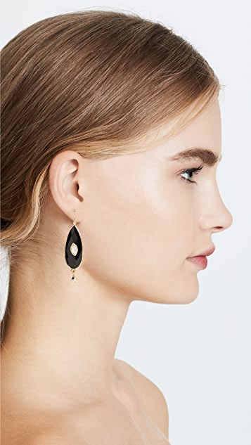 GAS Bijoux Bo Serti Goutte Bis Earrings