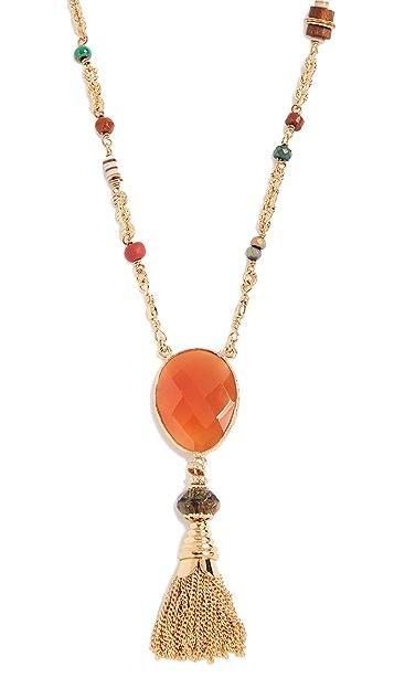GAS Bijoux Collier Serti Holly Pom Pom Necklace