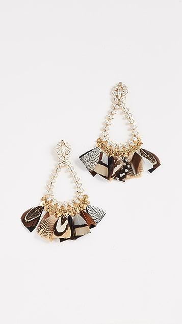 GAS Bijoux Bo Riviera Plume Earrings
