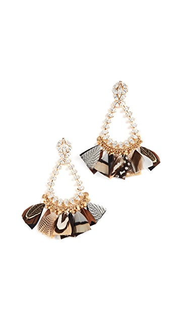 GAS Bijoux Bo Riviera Plume Earrings