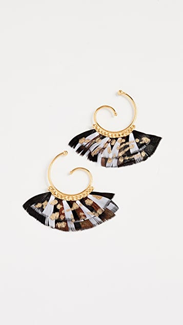 GAS Bijoux Bo Buzios Mini Plume Earrings