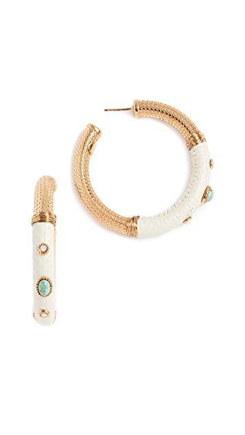 GAS Bijoux Porto Cabochons Hoop Earrings