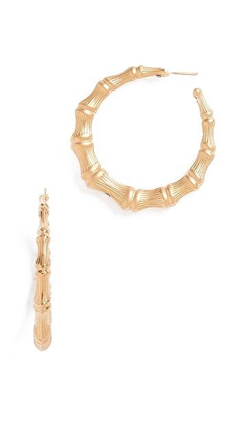 GAS Bijoux Creole Bamboo Earrings