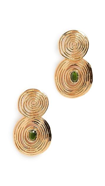 GAS Bijoux Wave Stone Earrings
