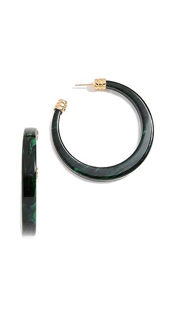 GAS Bijoux Овальные серьги-кольца из ацетата Bo Caftan