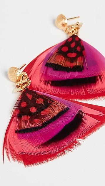 GAS Bijoux Bo Bermudes Plume Mini Earrings