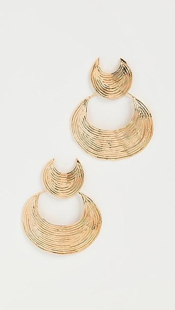 GAS Bijoux Luna Wave 耳环