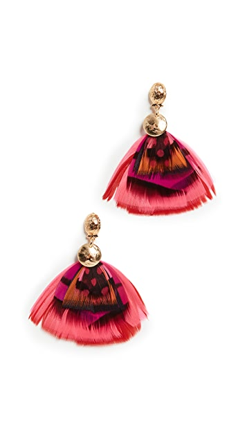 GAS Bijoux Bo Sao 2 Plumes Earrings