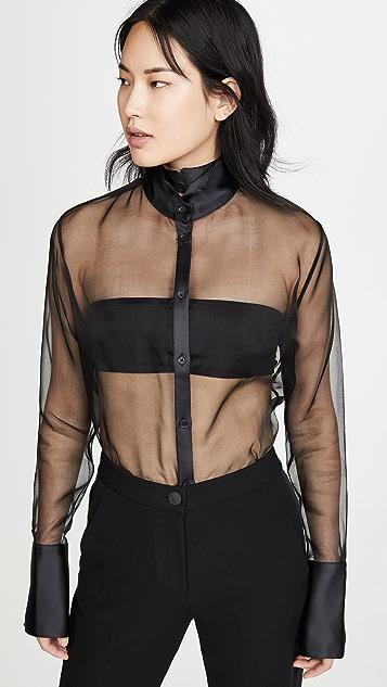 GAUGE81 Rio 透明硬纱礼服式衬衣