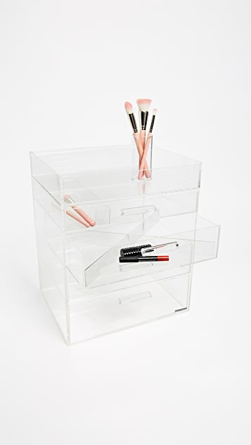 GLAMboxes GLAMluxe Full Lid Makeup Holder