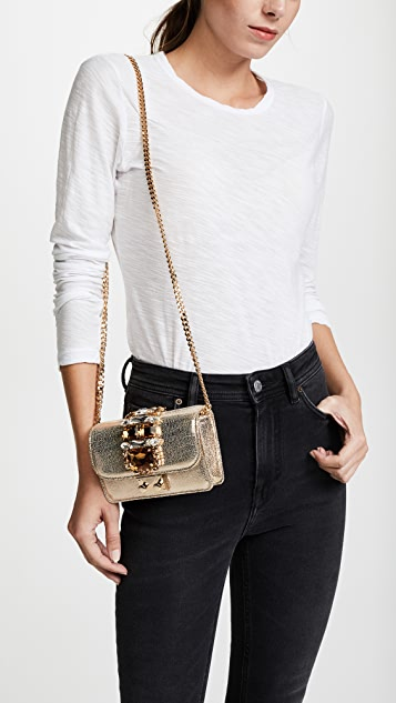 Gedebe Mini Clicky Gold Bag