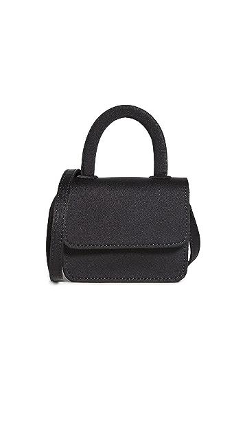 Gelareh Mizrahi Satin Micro Mini Top Handle Bag