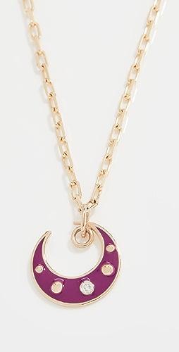 Gemma - Purple Moon Pendant