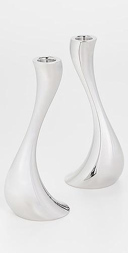 Georg Jensen - Cobra Candleholder Medium 2 Pcs