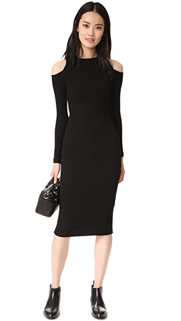 GETTING BACK TO SQUARE ONE Cold Shoulder Dress