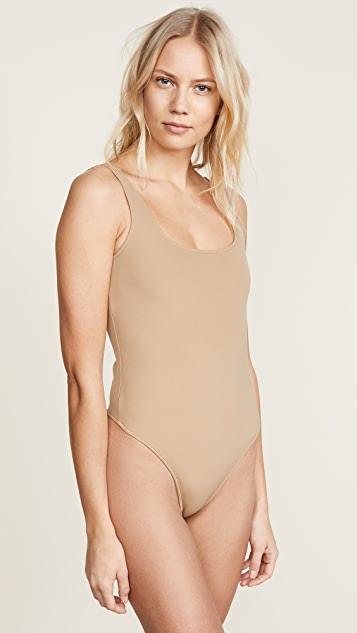 GETTING BACK TO SQUARE ONE Square Neck Thong Bodysuit