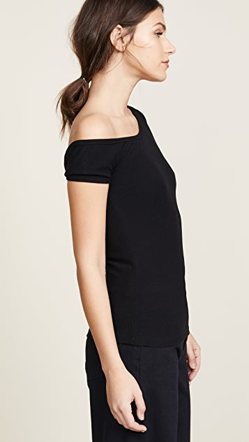 GETTING BACK TO SQUARE ONE One Shoulder Tee