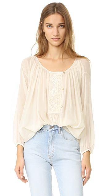 Giada Forte Lace Panelled Blouse