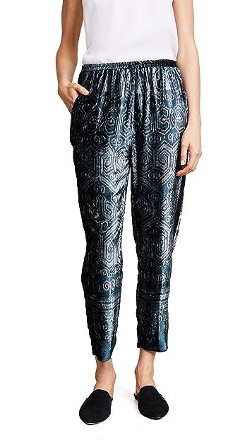 Giada Forte Ikat Print Velvet Pants