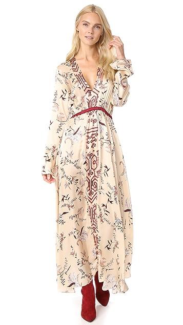 Forte Forte The Precious Garden Print Silk Dress