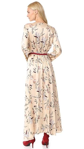 Giada Forte The Precious Garden Print Silk Dress