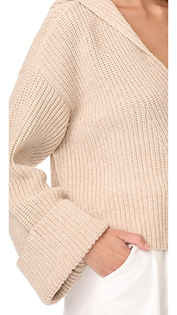 Forte Forte Wool English Knit Sweater with Hood