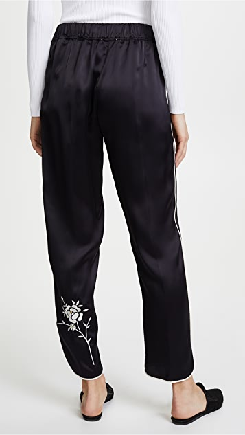 Forte Forte Satin Pants With Embroidery