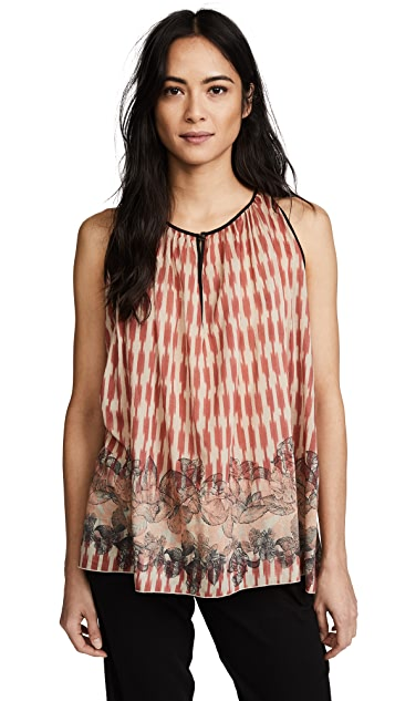 Giada Forte Printed Voile Top