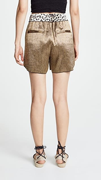 Forte Forte Polished Diagonal Shorts