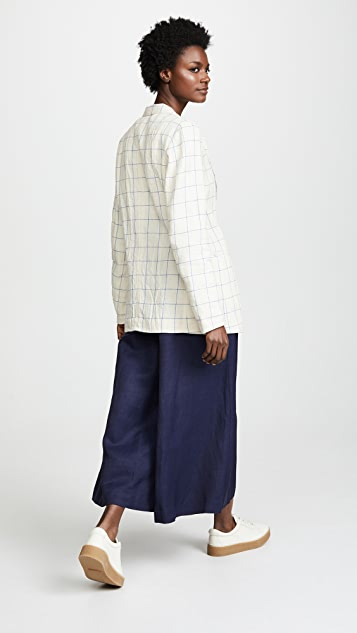 Forte Forte Ramie Linen Check Jacket