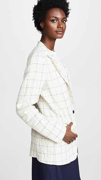 Giada Forte Ramie Linen Check Jacket