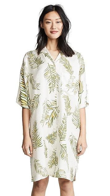 Forte Forte Desert Leaf Print Tunic Dress